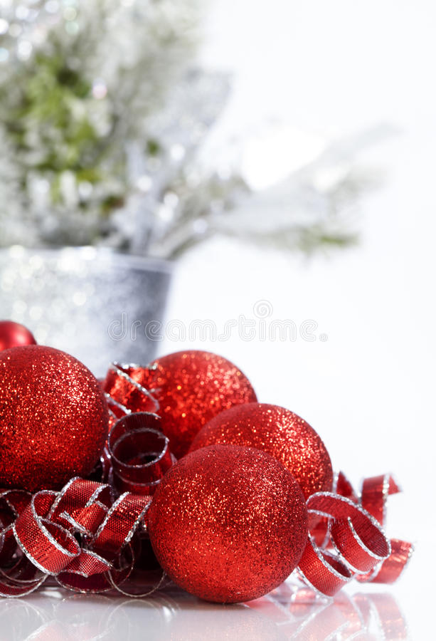 Download Sparkling Red Christmas Ornaments Stock Photo - Image: 42341752