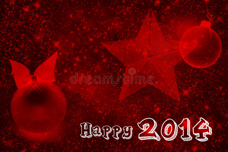 2014 Sparkling Red Wallpaper Royalty Free Stock Photos