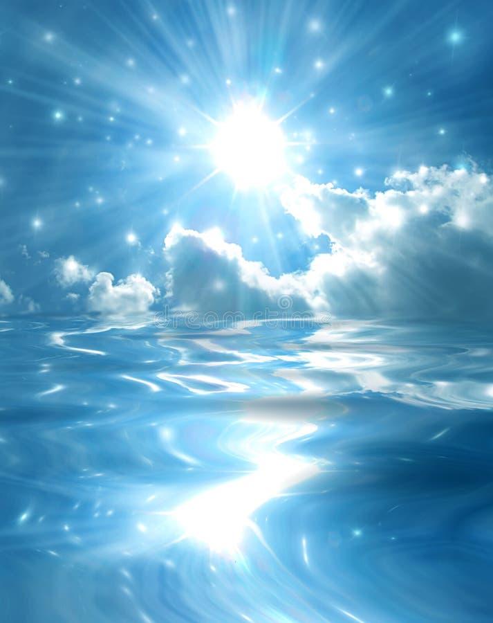 Download Sparkling Star Over Blue Lake Stock Images - Image: 11792844