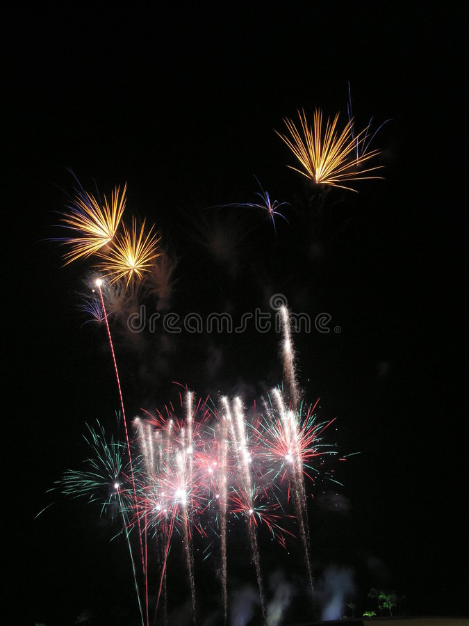 Download Sparkling tall  fireworks stock photo. Image of sparklers - 926838