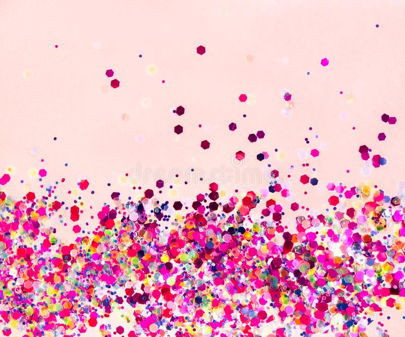 Holographic tinsels background royalty free stock photos