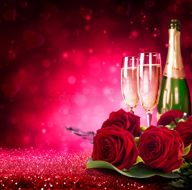Sparkling valentine's day royalty free stock photography