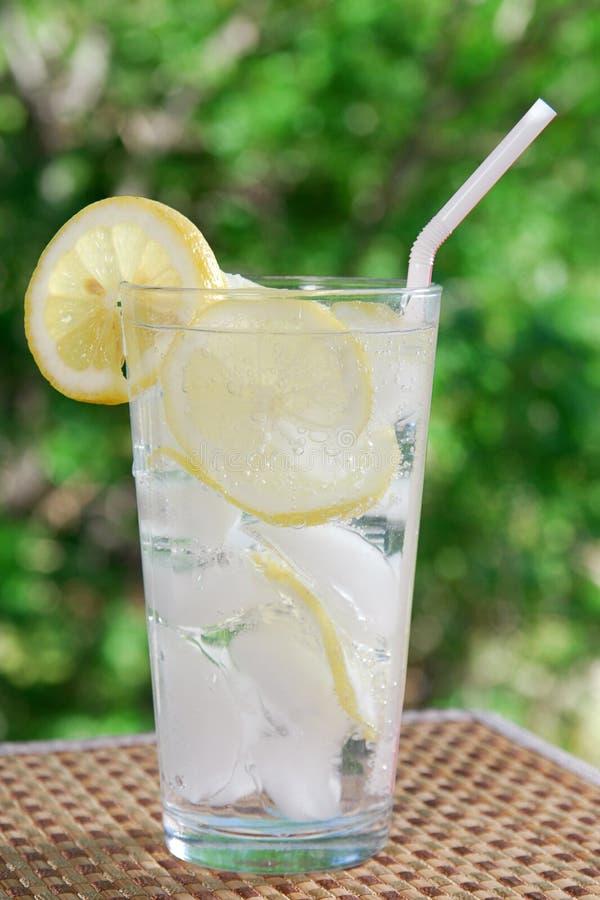 sparkling vatten för citron arkivbilder