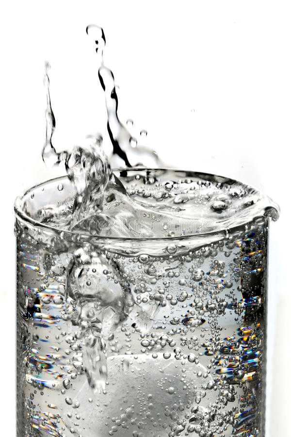 Download Sparkling water with ice stock image. Image of isolated - 21967409