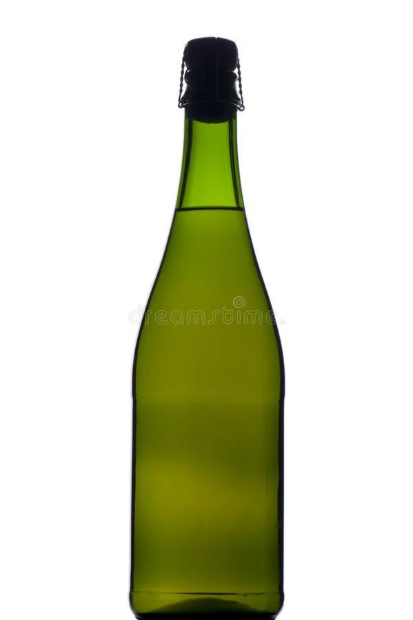 sparkling wine för svart flaska royaltyfria foton
