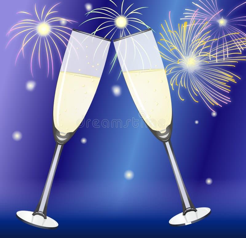 Download Sparkling wine glasses stock illustration. Image of drink - 17489914
