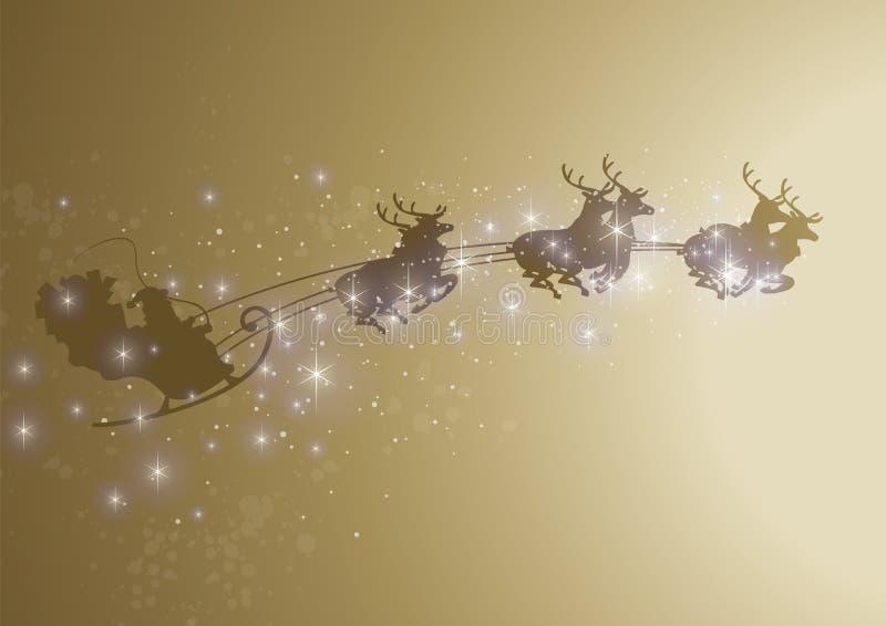 Sparkly сани santa бесплатная иллюстрация