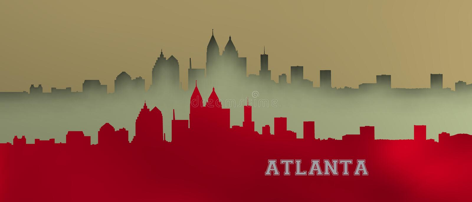 Sparkly Atlanta skyline. royalty free illustration