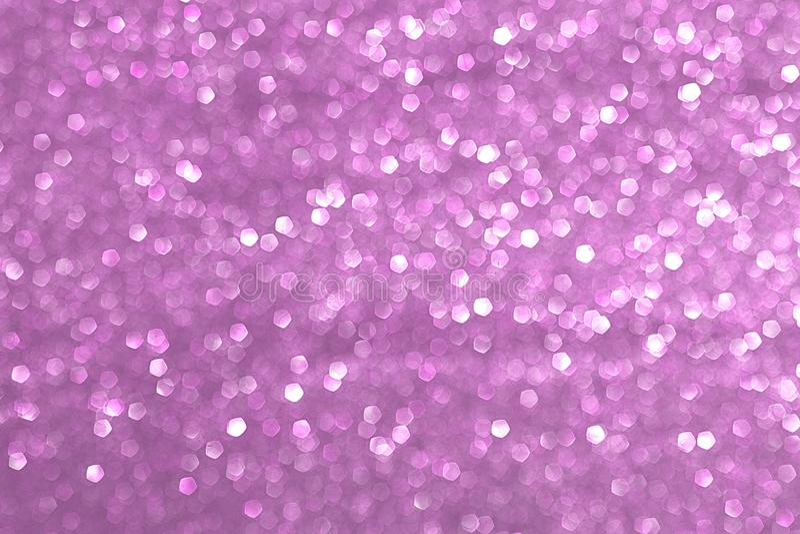 Sparkly blänka, rosa bakgrundsbokeheffekt royaltyfri fotografi