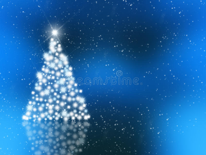 Sparkly Christmas tree vector illustration