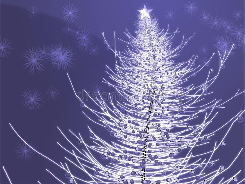 Sparkly christmas tree illustration stock illustration