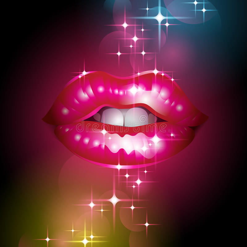 Download Sparkly lips stock vector. Illustration of glamor, gloss - 23227487