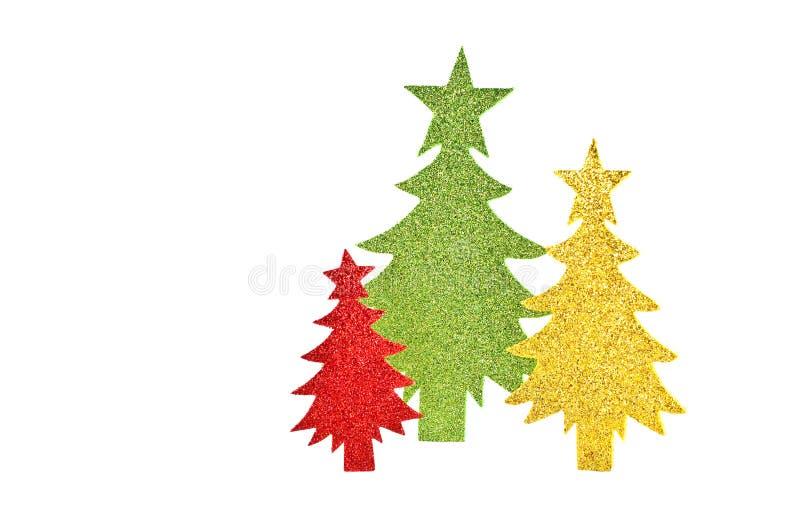 Sparkly Papierbäume stockfotografie