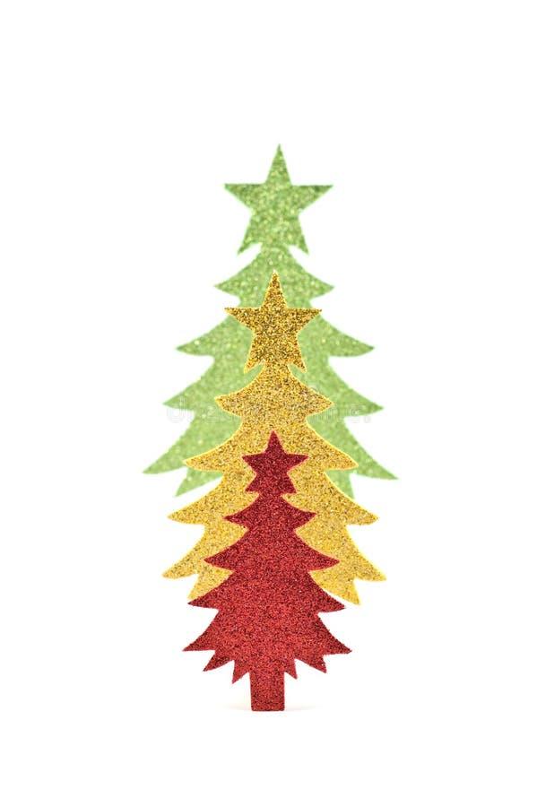 Sparkly Papierbäume stockbilder