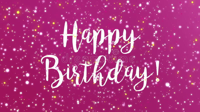 Sparkly Purple Happy Birthday Greeting Card Video Stock Video