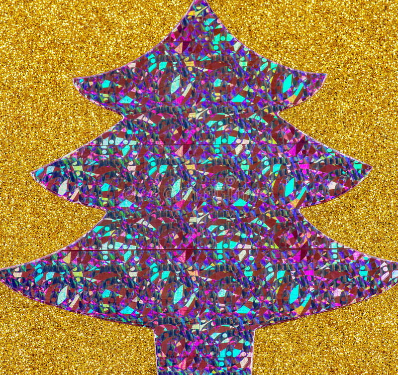 Sparkly purpurfärgad julgran arkivbilder