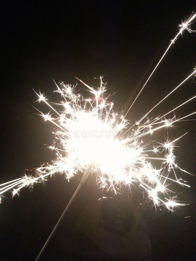 Sparkly tomtebloss arkivfoton