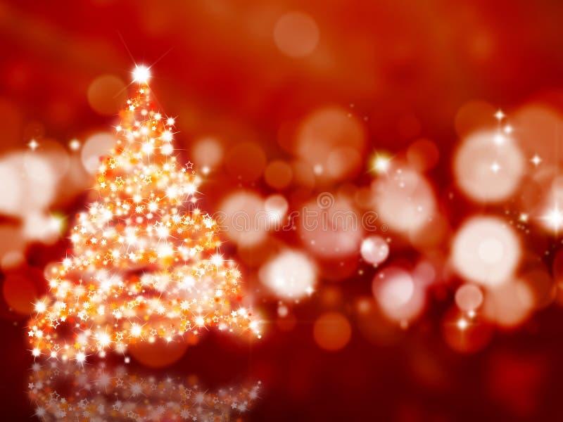 Sparkly Weihnachtsbaum stock abbildung