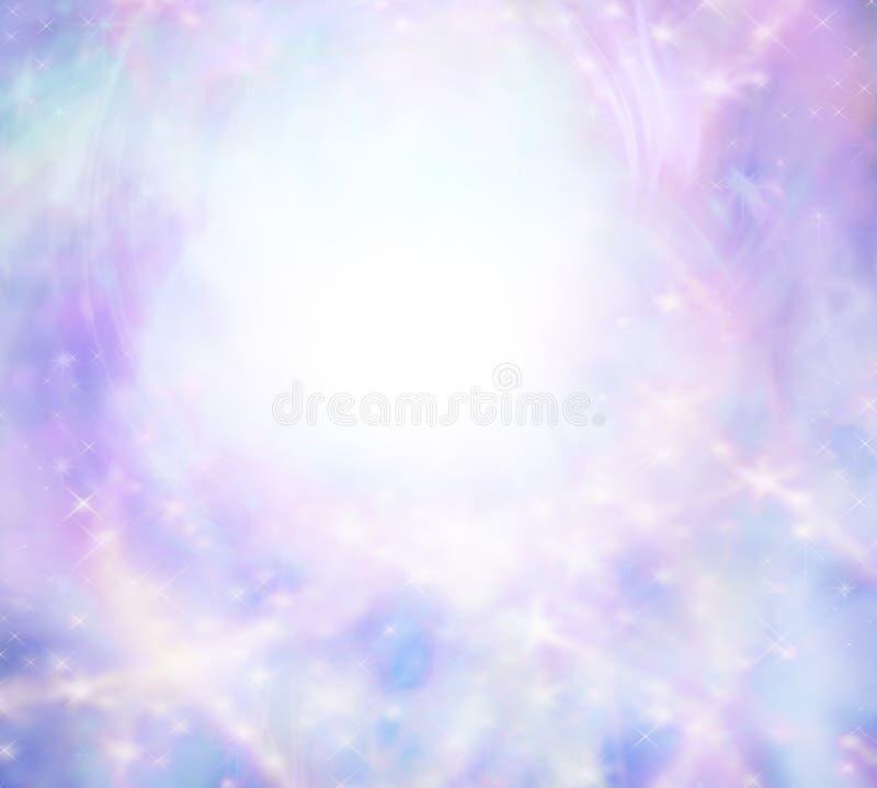 Sparkly wispy pink light burst background royalty free illustration