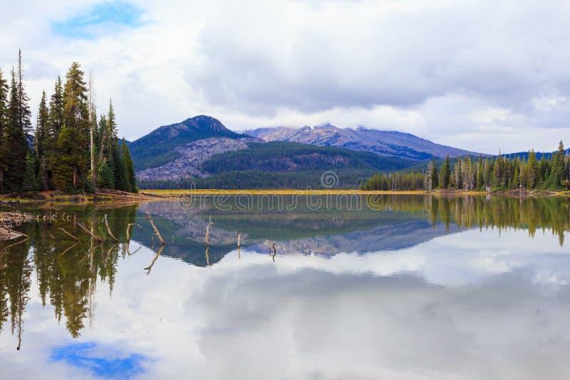 Sparks湖中央俄勒冈原野 免版税库存图片