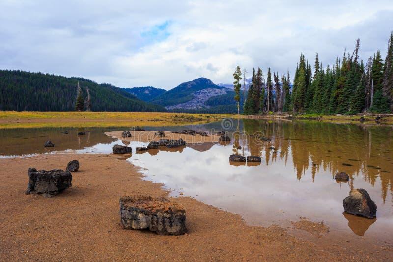 Sparks湖中央俄勒冈原野 免版税库存照片