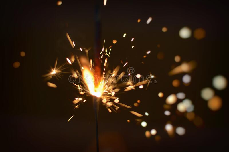 Sparks of Firecracker royalty free stock photography