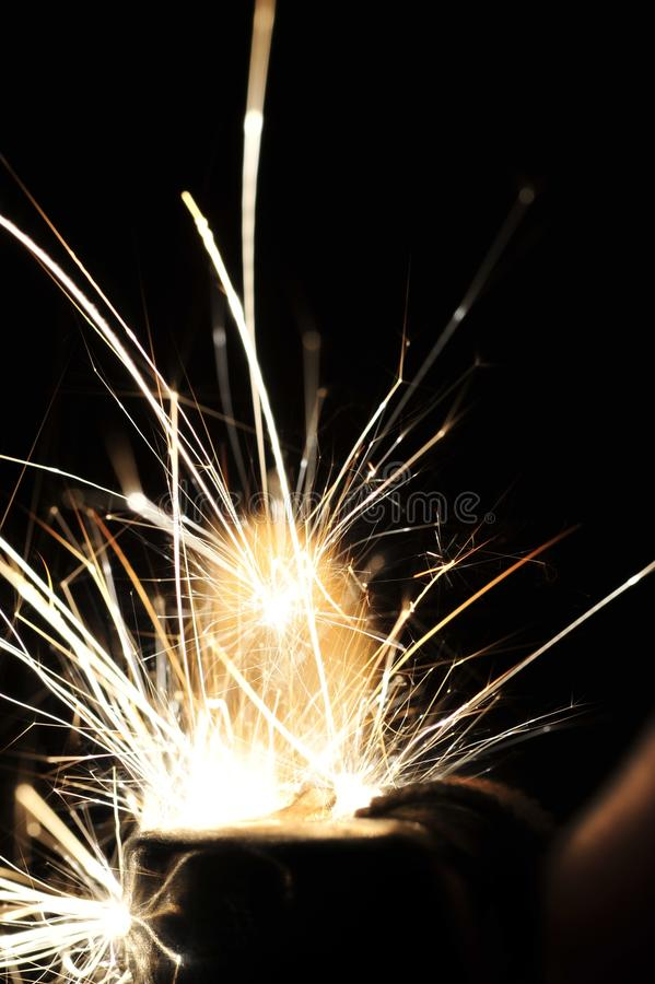 Sparks Flying In Dark Area Free Public Domain Cc0 Image