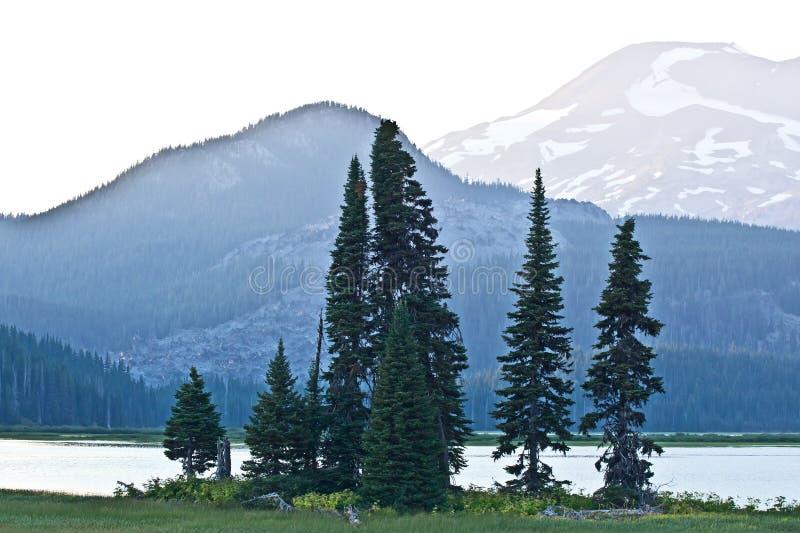 Sparks Lake Oregon Peaceful Twilight Landscape stock images