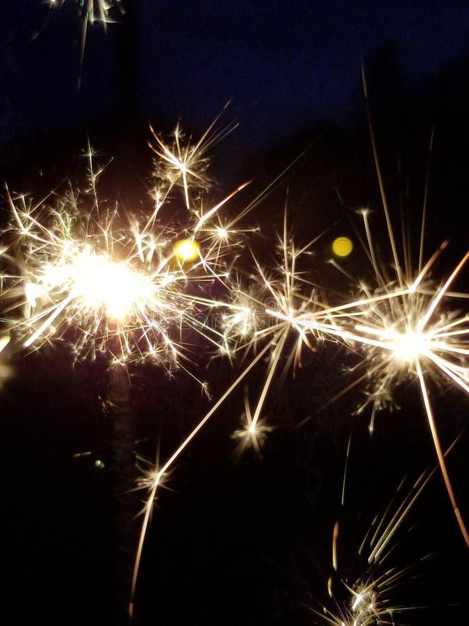 Sparks a plenty stock image