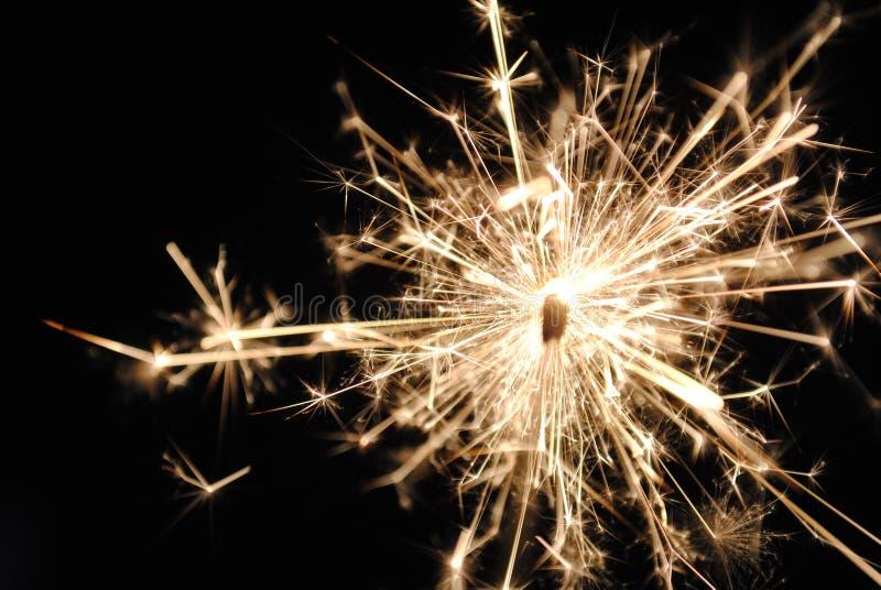 Sparks on a sparkler stock photo