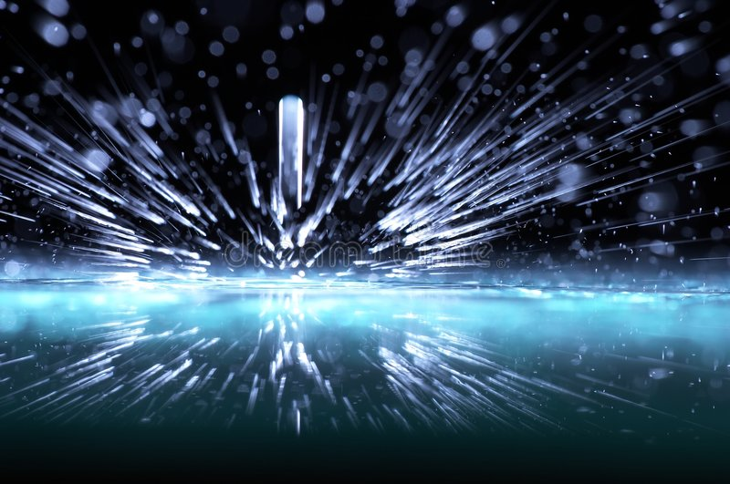 Sparks Of Water Stock Photos