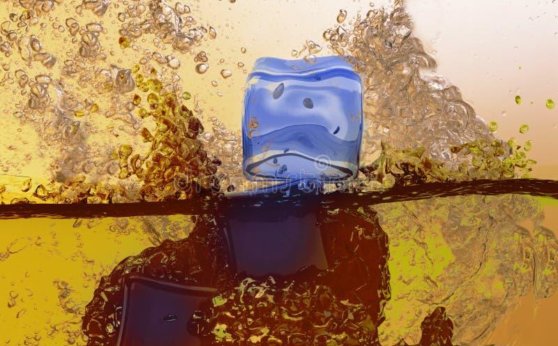 Download Sparks of  water stock illustration. Illustration of cool - 5669101