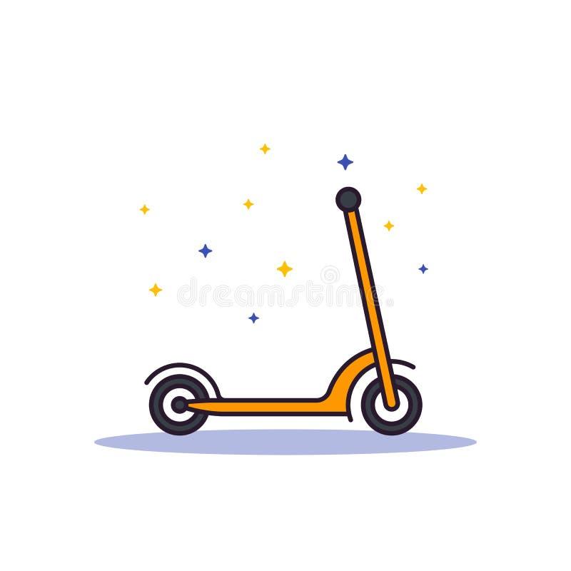 Sparksparkcykel på vit, vektorillustration vektor illustrationer