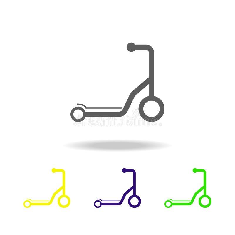 Sparksparkcykeln färgade symboler Beståndsdel av leksaker Kan användas för rengöringsduken, logoen, den mobila appen, UI, UX royaltyfri illustrationer