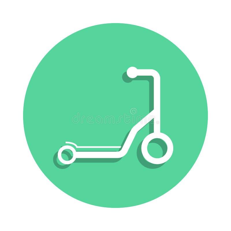 Sparksparkcykelsymbol i emblemstil En av leksaksamlingssymbolen kan användas för UI, UX stock illustrationer