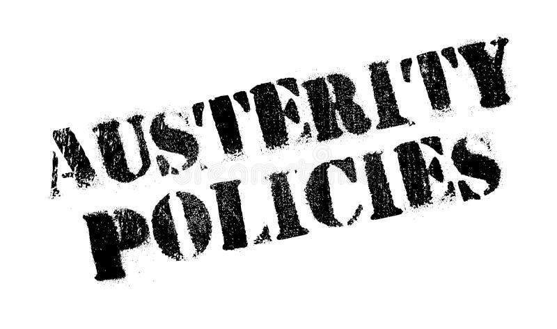 Sparpolitikstempel stock abbildung