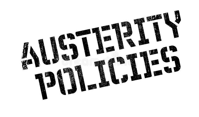 Sparpolitikstempel lizenzfreie abbildung