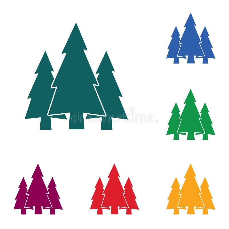 Sparren bospictogram vector illustratie