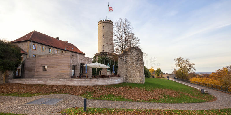 Sparrenburg-Schloss Bielefeld Deutschland lizenzfreies stockfoto