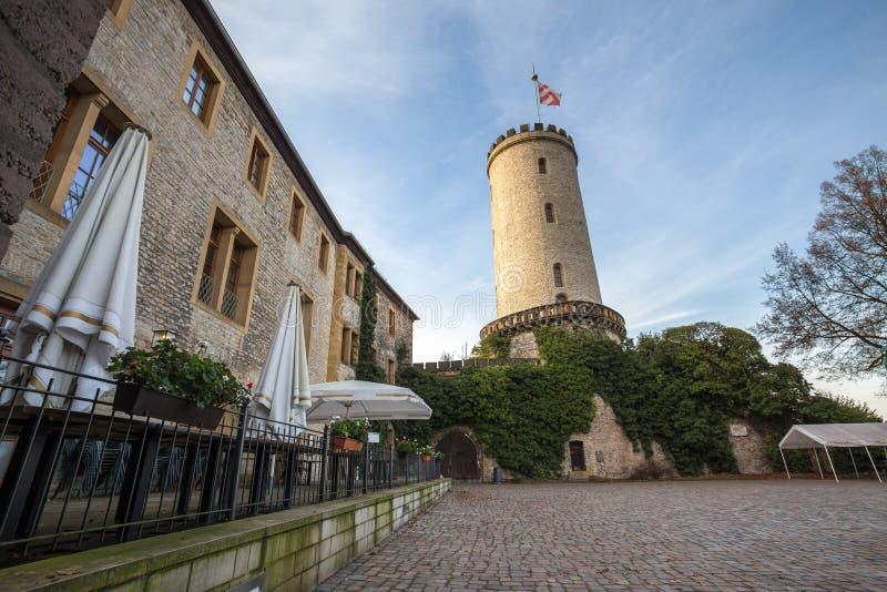 Sparrenburg slott bielefeld Tyskland royaltyfri fotografi