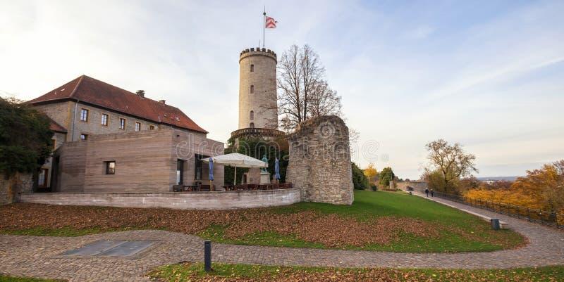 Sparrenburg slott bielefeld Tyskland royaltyfri foto