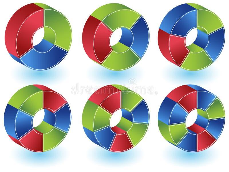 sparreset vektor illustrationer