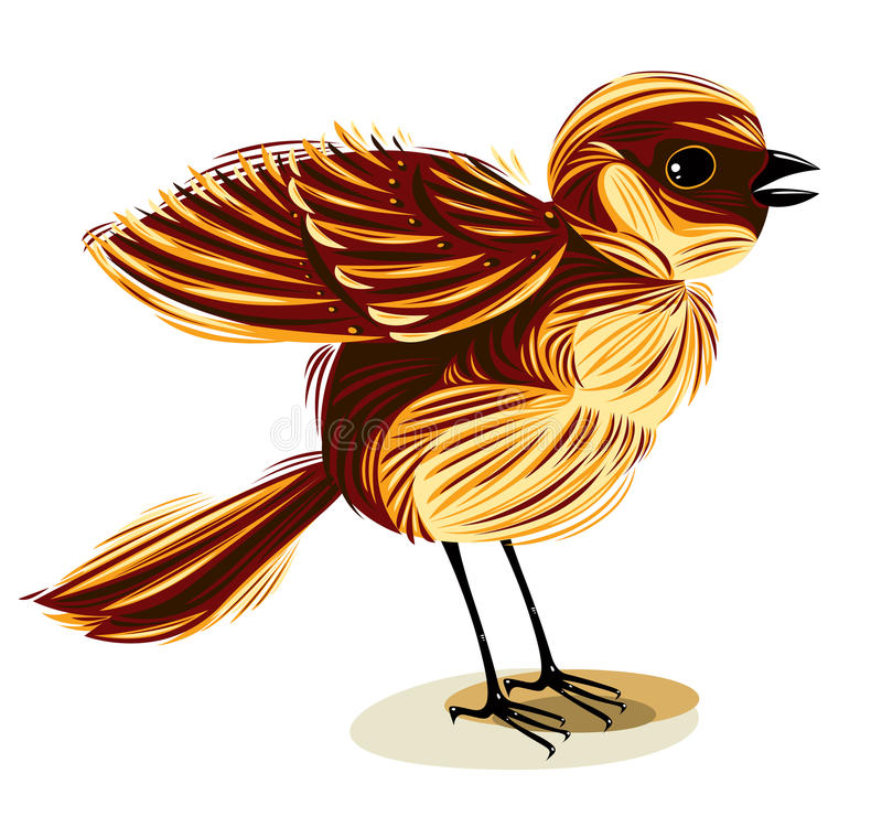 Download Sparrow. stock vector. Image of little, outdoor, cute - 18678191