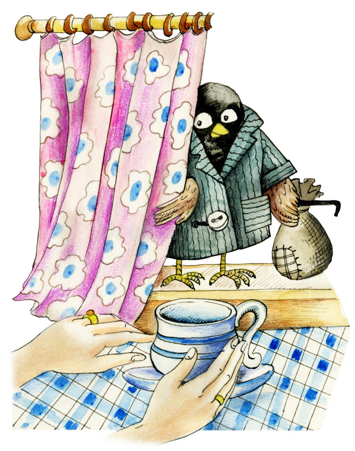 Sparrow Robber stock illustration