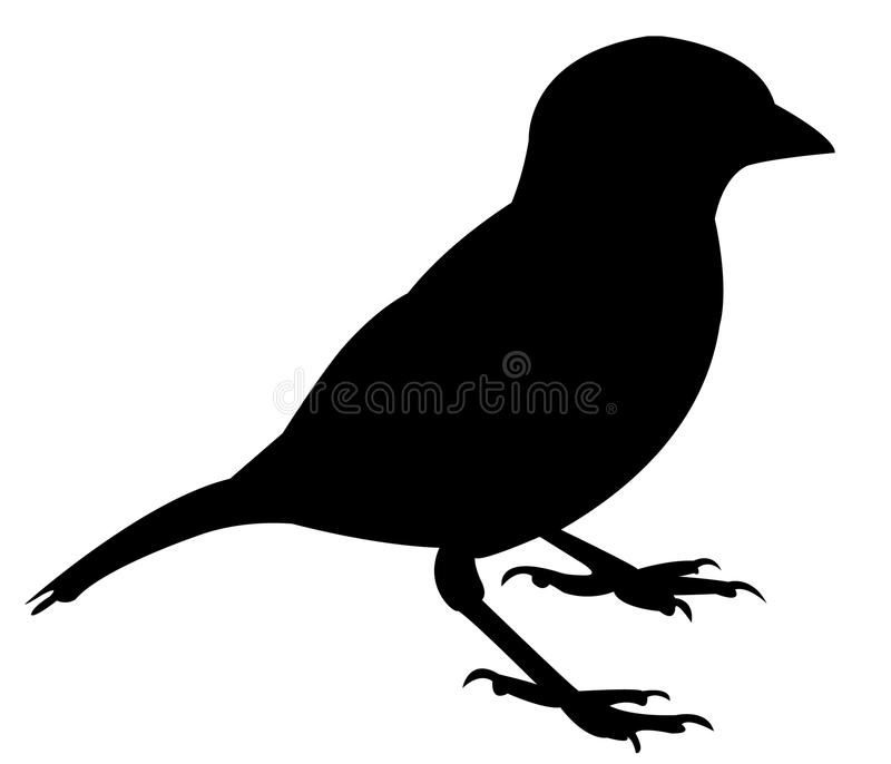 A sparrow silhouette vector stock illustration