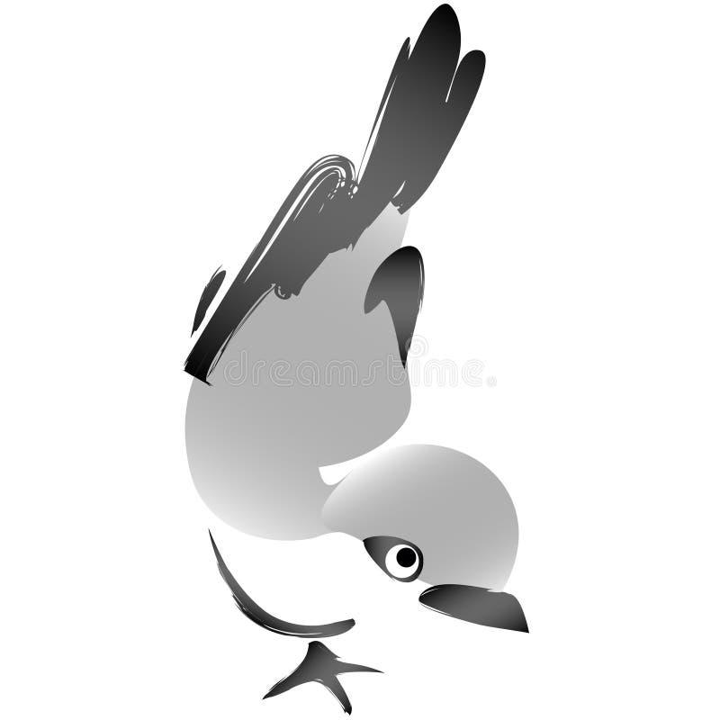 Sparrow standing spontaneous scketch