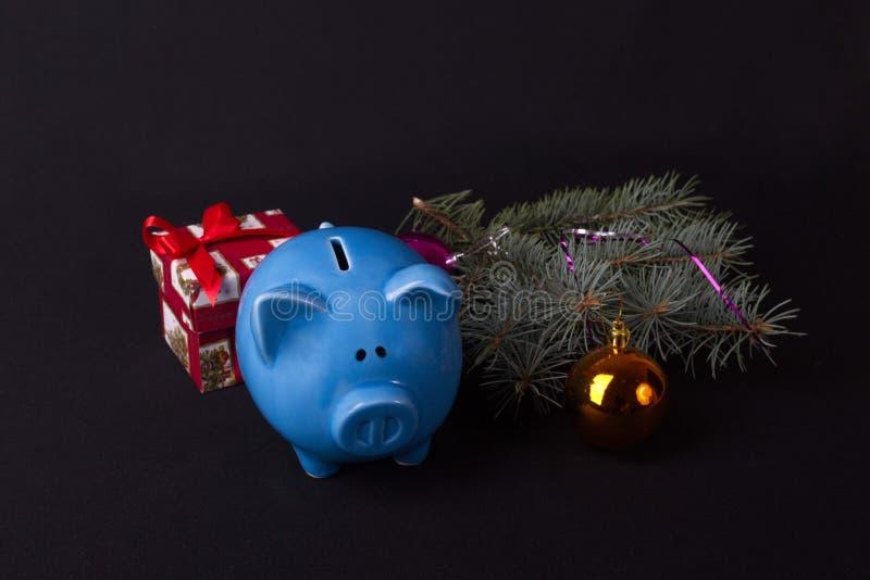 Sparschwein ist das Anfangsstartkapital lizenzfreie stockbilder