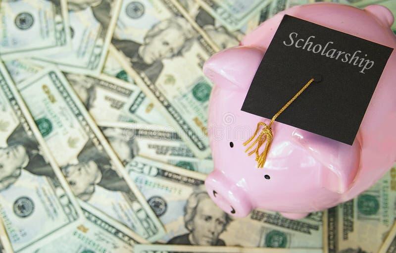 Sparschweincollege-Stipendiumstaffelung stockbilder