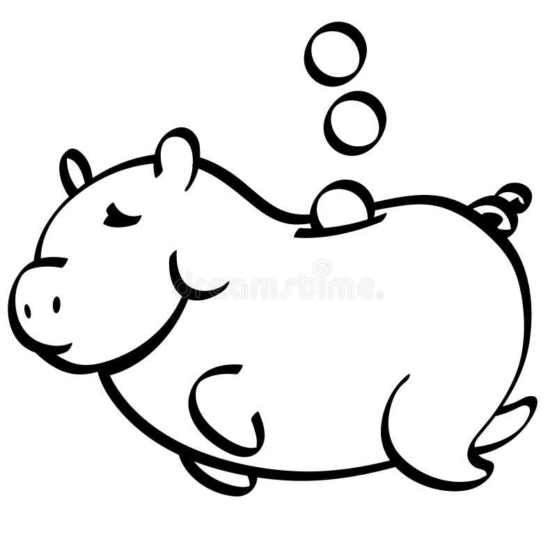Sparschweinvektor Hand gezeichnet, Vektor, ENV, Logo, Ikone, Schattenbild Illustration durch crafteroks für unterschiedlichen Geb stock abbildung