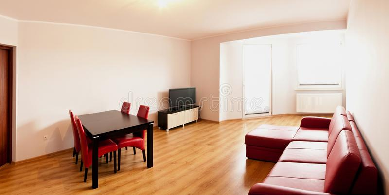 Sparse apartment. A sparse apartment, ready to rent royalty free stock image